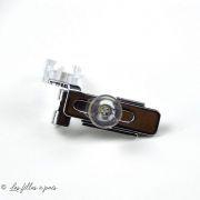 Pied de biche machine à coudre fermeture Eclair ® invisible transparent réglable