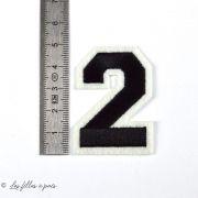 Ecusson chiffres - Noir - Thermocollant  - 5