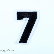 Ecusson chiffres - Noir - Thermocollant  - 13