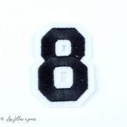 Ecusson chiffres - Noir - Thermocollant  - 15