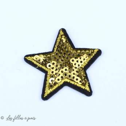 Ecusson sequin étoile - Doré - Thermocollant - 1