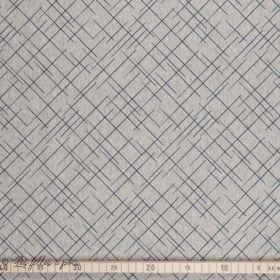 """Tissu jersey coton motif croix """"Cross The Line"""" - Gris et bleu foncé - Bio - Lillestoff ®"""
