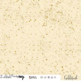 "Tissu jersey viscose motif tâches ""GOLDSTAUB"" - Ecru et doré - Lillestoff ®"