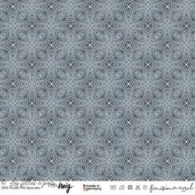 "Tissu jersey viscose motif arabesque ""FINISIMA"" - Bleu et doré - Lillestoff ® Lillestoff ® - 1"