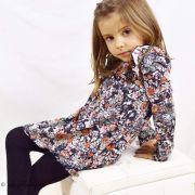 "Tissu jersey motif fleurs ""Fusion Silkroad"" - Noir, blanc et orange - AGF ® Art Gallery Fabrics ® - 5"