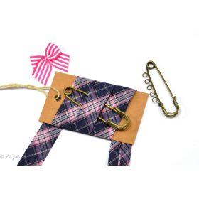 Biais à carreaux écossais - Violet et rose - 20mm Fillawant® by DMC ® - 1