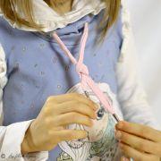 Panneau de tissu jersey fillettes