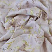 """Tissu coton motif """"Tipavao"""" - Bleu et multicolore - Oeko-Tex ® et GOTS ®"""