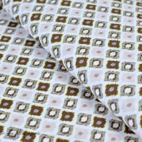 Tissu coton motif  fleuri - Beige - Oeko-Tex ® et GOTS ®