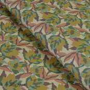 Tissu coton motif fleuri esprit militaire - Beige - Oeko-Tex ® et GOTS ®