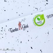 Tissu jersey coton Splitter motif tâche - Blanc et noir - Bio - Lillestoff ®