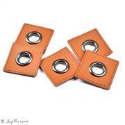 Oeillet simili cuir de couture - Lot de 2 - 8mm