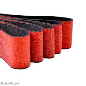 Elastique plat lurex noir - 40mm
