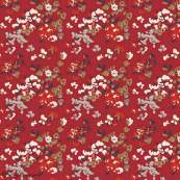 "Tissu jersey motif fleurs ""Trinkets Fusion"" - Rouge et blanc - Oekotex ® - AGF ® Art Gallery Fabrics ® - 3"