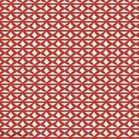 """Tissu coton motif géométrique """"Trinkets Fusion"""" - Rouge et écru - AGF ®"""