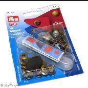 Bouton pression anorak avec outil - 12mm - Argenté - Prym ®