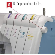 Surjeteuse 8708 - ALFA ALFA ® - Machines à coudre, à broder, à recouvrir et à surjeter - 3