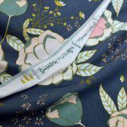 """Tissu jersey motif fleurs """"Fusion Sparkler""""  - Bleu gris, rose et ocre - Oekotex - AGF ® Art Gallery Fabrics ® - Tissus - 5"""