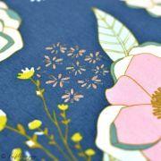 """Tissu jersey motif fleurs """"Fusion Sparkler""""  - Bleu gris, rose et ocre - Oekotex - AGF ® Art Gallery Fabrics ® - Tissus - 6"""