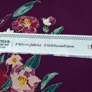 "Tissu coton motif fleurs ""Fusion Foresta"" - Pourpre - Oekotex ® - AGF ® Art Gallery Fabrics ® - 8"