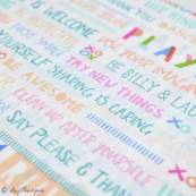 "Tissu coton motif fleurs ""Angles Playroom"" - Ecru et multicolore - Oekotex ® - AGF ® Art Gallery Fabrics ® - Tissus - 2"