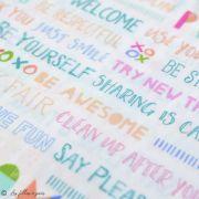 "Tissu coton motif fleurs ""Angles Playroom"" - Ecru et multicolore - Oekotex ® - AGF ® Art Gallery Fabrics ® - Tissus - 3"