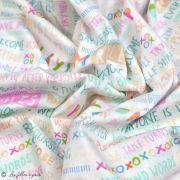 "Tissu coton motif fleurs ""Angles Playroom"" - Ecru et multicolore - Oekotex ® - AGF ® Art Gallery Fabrics ® - Tissus - 5"