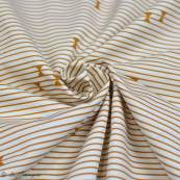 "Tissu coton motif rayures ""Trinkets Fusion"" - Ecru et Ocre - AGF ® Art Gallery Fabrics ® - Tissus - 3"