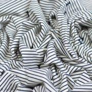"Tissu jersey motif rayures ""Heritage"" - Ecru et Bleu marine - AGF ®"