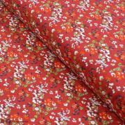 "Tissu jersey motif fleurs ""Trinkets Fusion"" - Rouge et blanc - Oekotex ® - AGF ® Art Gallery Fabrics ® - 1"