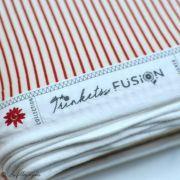 "Tissu jersey motif rayures ""Trinkets Fusion""  - Ecru et Rouge - AGF ® Art Gallery Fabrics ® - Tissus - 6"