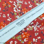 "Tissu jersey motif fleurs ""Trinkets Fusion"" - Rouge et blanc - Oekotex ® - AGF ® Art Gallery Fabrics ® - 6"