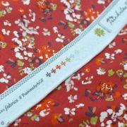 "Tissu jersey motif fleurs ""Trinkets Fusion"" - Rouge et blanc - Oekotex ® - AGF ® Art Gallery Fabrics ® - 7"