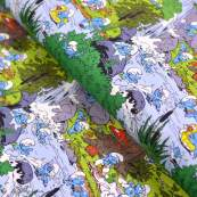"""Tissu jersey coton schtroumpf """"Smurf Bath Time"""" - Vintage In My Heart - Oeko-Tex ®"""