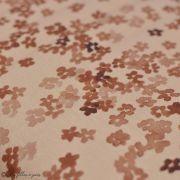 "Tissu jersey coton motif fleurs ""Mini Flowers Peach"" - Marron - Oeko-Tex ® Family Fabrics ® - Tissus oekotex - 2"
