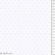 Tissu jersey coton motif pois esprit plumetis - Oekotex Autres marques - 2