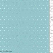 Tissu jersey coton motif pois esprit plumetis - Oekotex Autres marques - 5