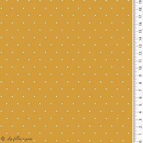 Tissu jersey coton motif pois - Oekotex