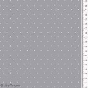 Tissu jersey coton motif pois esprit plumetis - Oekotex Autres marques - 8