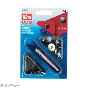 Bouton pression anorak avec outil - 12mm - Argenté - Prym ® Prym ® - 1