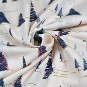 """Tissu coton motif arbre """"Fusion Sparkler"""" - Rose, gris et vert - Oekotex ® - AGF ® Art Gallery Fabrics ® - Tissus - 3"""