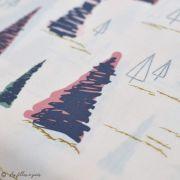 """Tissu coton motif arbre """"Fusion Sparkler"""" - Rose, gris et vert - Oekotex ® - AGF ® Art Gallery Fabrics ® - Tissus - 2"""