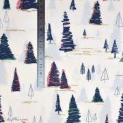 """Tissu coton motif arbre """"Fusion Sparkler"""" - Rose, gris et vert - Oekotex ® - AGF ® Art Gallery Fabrics ® - Tissus - 5"""