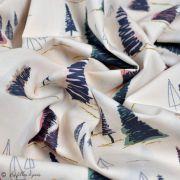 """Tissu coton motif arbre """"Fusion Sparkler"""" - Rose, gris et vert - Oekotex ® - AGF ® Art Gallery Fabrics ® - Tissus - 4"""
