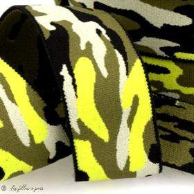 """Elastique caleçon boxer """"Army"""" - 38mm - 1"""