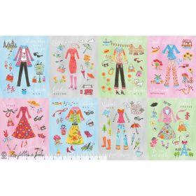"Tissu coton motif mode ""Going In Style"" - Gris - Blend Fabrics ® Blend Fabrics ® - 1"