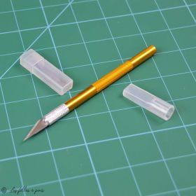Scalpel de précision en aluminium + étui de 5 lames ou étui de 6 lames pour scalpel  - 7