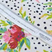 "Tissu jersey motif pois et fleurs ""Bloomsbury"" de Bari J - Blanc - Oekotex - AGF ® Art Gallery Fabrics ® - Tissus - 6"