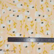 "Tissu jersey motif fleurs ""The Open Road"" de Bonnie Christine - Nude - Oekotex - AGF ® Art Gallery Fabrics ® - Tissus - 2"