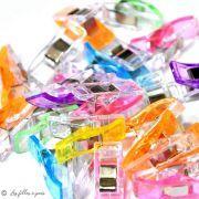 Lot de 10 pinces plastiques type Prodige - 33x12mm - 20